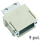 Han® D-Sub Modul (=1er Modul) Adaptermodul