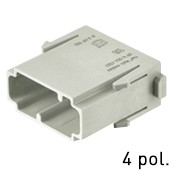 Han® Multi Modul 4-polig (=1er Modul) DIN 41626