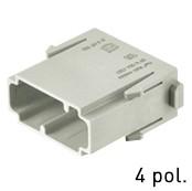 Han® Multi Module 4-polig (=1er Modul) DIN 41626