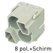 Han® Quintax High Density Module (=2er Modul) D-Sub Crimp