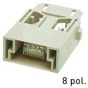 Han® RJ45 Stiftmodule (=1er Modul) feldkonfektionierbar