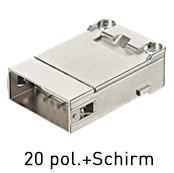 Han® Shielded Module (=1er Modul) D-Sub Crimp