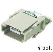 Han® USB 2.0 Modul (=1er Modul) Schraubanschluss