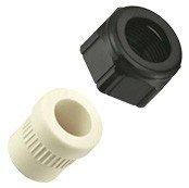 Halbverschraubungen PG16 Kunststoff schwarz