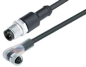 binder M12 / M 8 LEITUNG PUR 3x0,25 KST/WKD + LED 1m